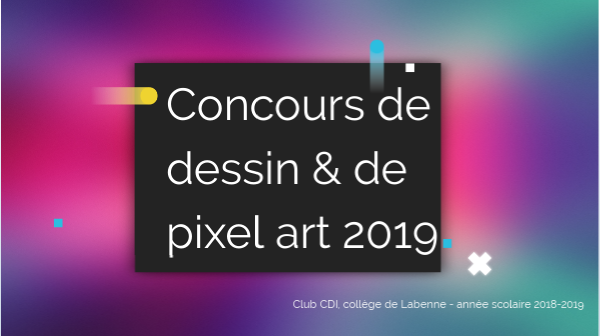 Concours Dessin Pixel Art 2019 By Cdicollege2labenne On